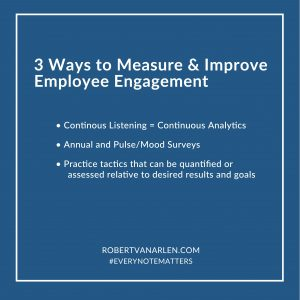 3 ways to measure and improve employee engagement list